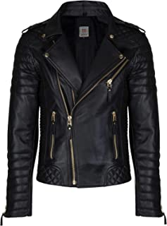 Sponsored Ad - High Star Collections Stylish Quilted Brando Motorcycle Fashion Biker Style Genuine Lambskin Leather Jacket