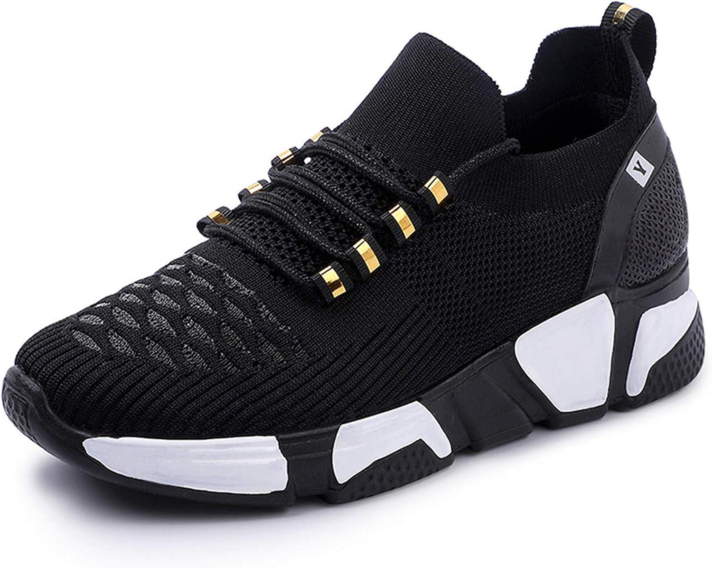 Women's Walking Shoes Fashion Sock SneakersSlip onMesh WedgeHeelShoePlatform Loafers