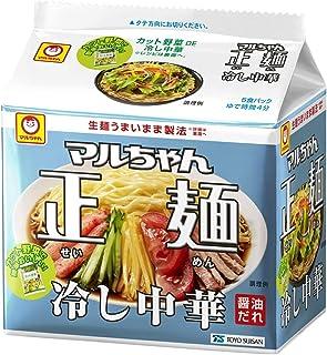 マルちゃん マルちゃん正麺 冷し中華 5食パック 590g