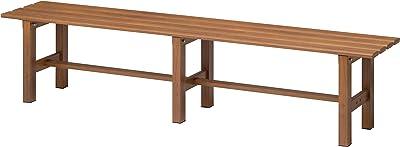Takasho Aluminium Bench Seat, 150 cm Size, Brown