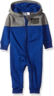 PUMA Baby-Boys 01186105-P011 Boys' Fleece Coverall Footie - Gray