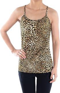 823cf1ba4c79 Anna-Kaci Womens Casual Leopard Print Spaghetti Strap Soft Racerback Tank  Top