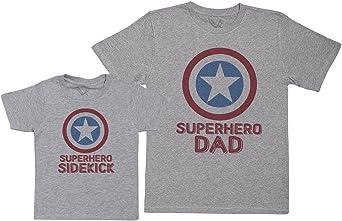 Baby Bunny Superhero Sidekick - Créez Votre Ensemble - Coffret Cadeau Articles Assortis Papa-Enfant – T-Shirt Homme & T-Shirt Enfant – (Vendus séparément)