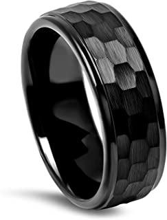 8MM Hammered Center Tungsten Ring (Multiple Colors!)