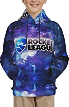 Kids Hoodie ROC-Ket Sport League Hooded Sweater Warm Tenns Pullover Hoodies for Boys and Girls 14-16 Years