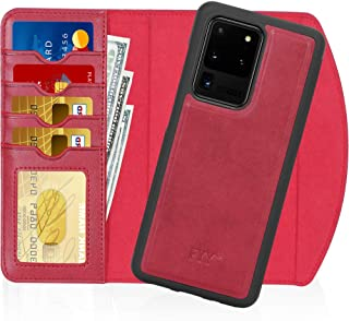 "FYY Case for Galaxy S20 Ultra 6.9"", 2-in-1 Magnetic Detachable Wallet Case [Wireless Charging Support] with Card Slots Fol..."