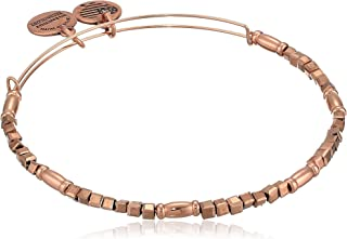 Alex and Ani Women's Zephyr Charm Bangle Champagne, Shiny Rose Gold