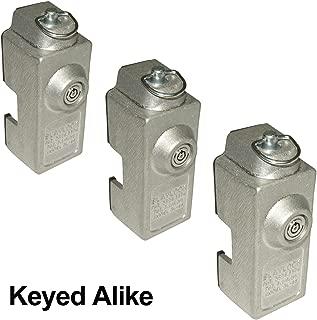 Blaylock DL-80 Cargo Trailer Door Lock - 3-Pack of Keyed Alike Locks