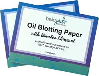 Oil Blotting Paper Sheets – Instantly Absorbs Excess Oil and Shine from Face without Smudging Makeup – Large size, 200 Tis...