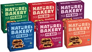 Nature's Bakery Whole Wheat Fig Bars, Variety Pack, Real Fruit, Vegan, Non-GMO, Snack bar, 6 boxes with 6 twin packs (36 t...