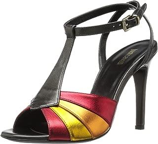 Just Cavalli Womens Laminated Leather Multi Heel Laminated Leather Multi Heel Multicolored Size: