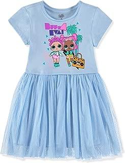 L.O.L. Surprise! Girls Short Sleeve Glitter Tulle Tutu Dress