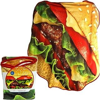 Wal-Mart Mainstays Cheeseburger Round beach towel 58 IN dia