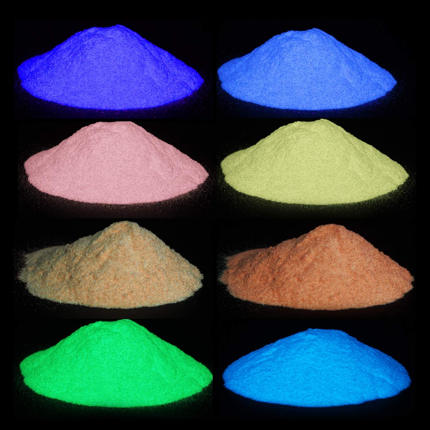 8 Color Glow OFFicial shop In The 2021 new Dark Powder Resin Epoxy Pigment Luminous Pow