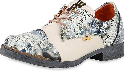 TMA - zapatos de Cordones de Cuero para mujer