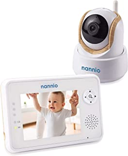 "Nannio Comfy 3.5"" Video Baby Monitor with Enhanced Super Night Vision Camera, Long Transmission Range, Two-Way Talk, 3 Lullabies, Long Battery Life, Secure, Australia Plug …"