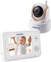 "Nannio Comfy 3.5"" Video Baby Monitor with Enhanced Super Night Vision Camera, Long Transmission Range, Two-Way Talk, 3 Lullabies, Long Battery Life, Secure, Australia Plug …"