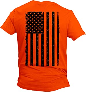 Distressed Black USA Flag - United States Men's T-Shirt