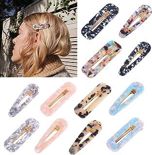12 PCS Fashion Hair Clips, Pearl Hair Clips, Hollow Geometric Hair Clip, Korean Style Hairpins, Pearls Hair Barrettes Swee...