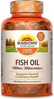 Sundown Fish Oil 1000 mg, 200 Softgels