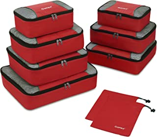 Gonex Rip-Stop Nylon Travel Organizers Packing Bags Red