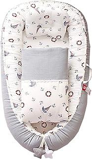 ABREEZE Baby Lounger Baby Nest Co-Sleeping Newborn Lounger Comforter Cotton Adjustable for Crib & Bassinet Mattress Machin...