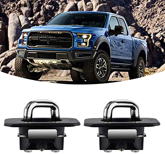 2 Pcs KanSmart Ring 4025 Truck Bed Tie Down Anchors Compatible with 2015 2016 2017 2018 2019 2020 Ford F150 and for 2017-2020 Ford Super Duty