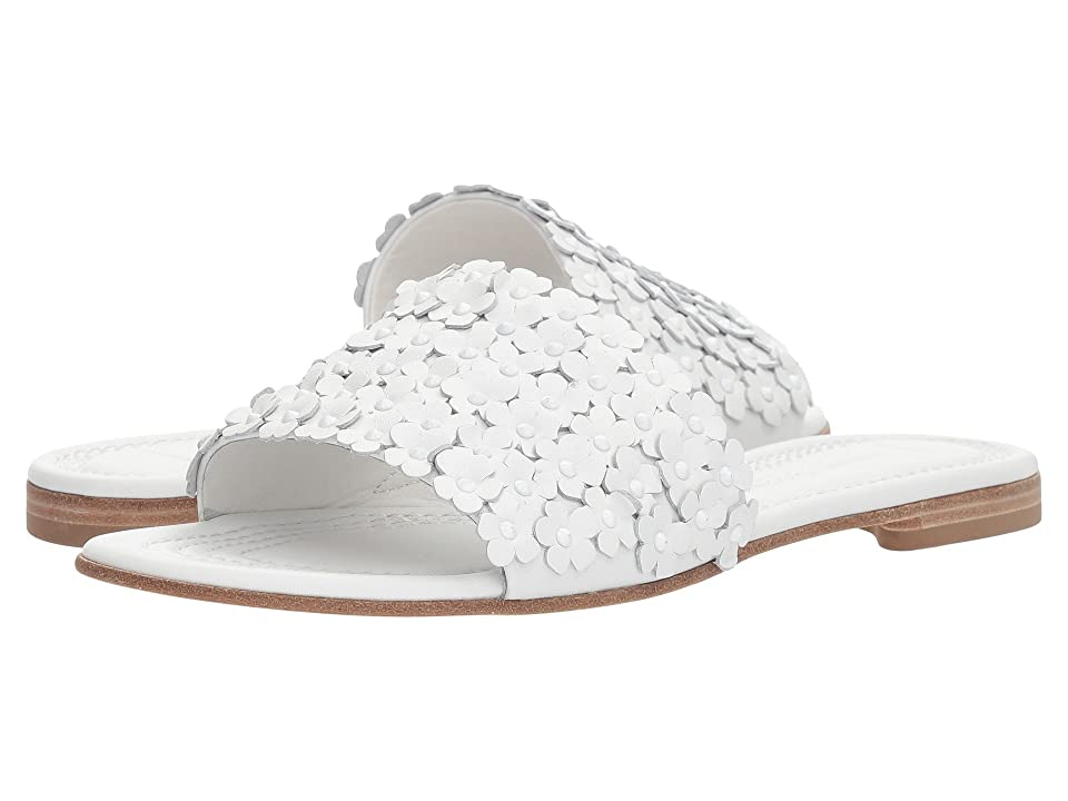 Kennel & Schmenger Elle Floral Slide (White Calf) Women
