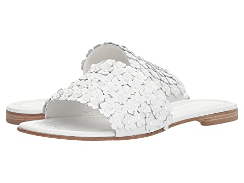 Calf Perrera White y Schmenger amp; Elle Floral Slide Y10YSqwr
