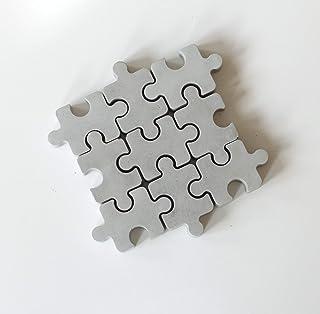 Atelier Ideco - Puzzle en Béton - Décoration Originale pour Vitrine, Salon ou Chambre D'enfant - Les 9 Pièces Se Détachent...