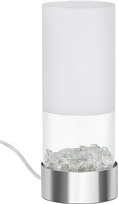 Briloner Leuchten–Lámpara LED de mesa, Lámpara de mesa, LED Módulo, 5W, 400lúmenes, incluye interruptor, teilmattiertes Cristal de plástico, cromo 7289–018