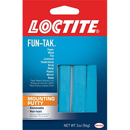Loctite Fun-Tak Mounting Putty 2-Ounce (1087306), Single, Blue, 2 Ounce