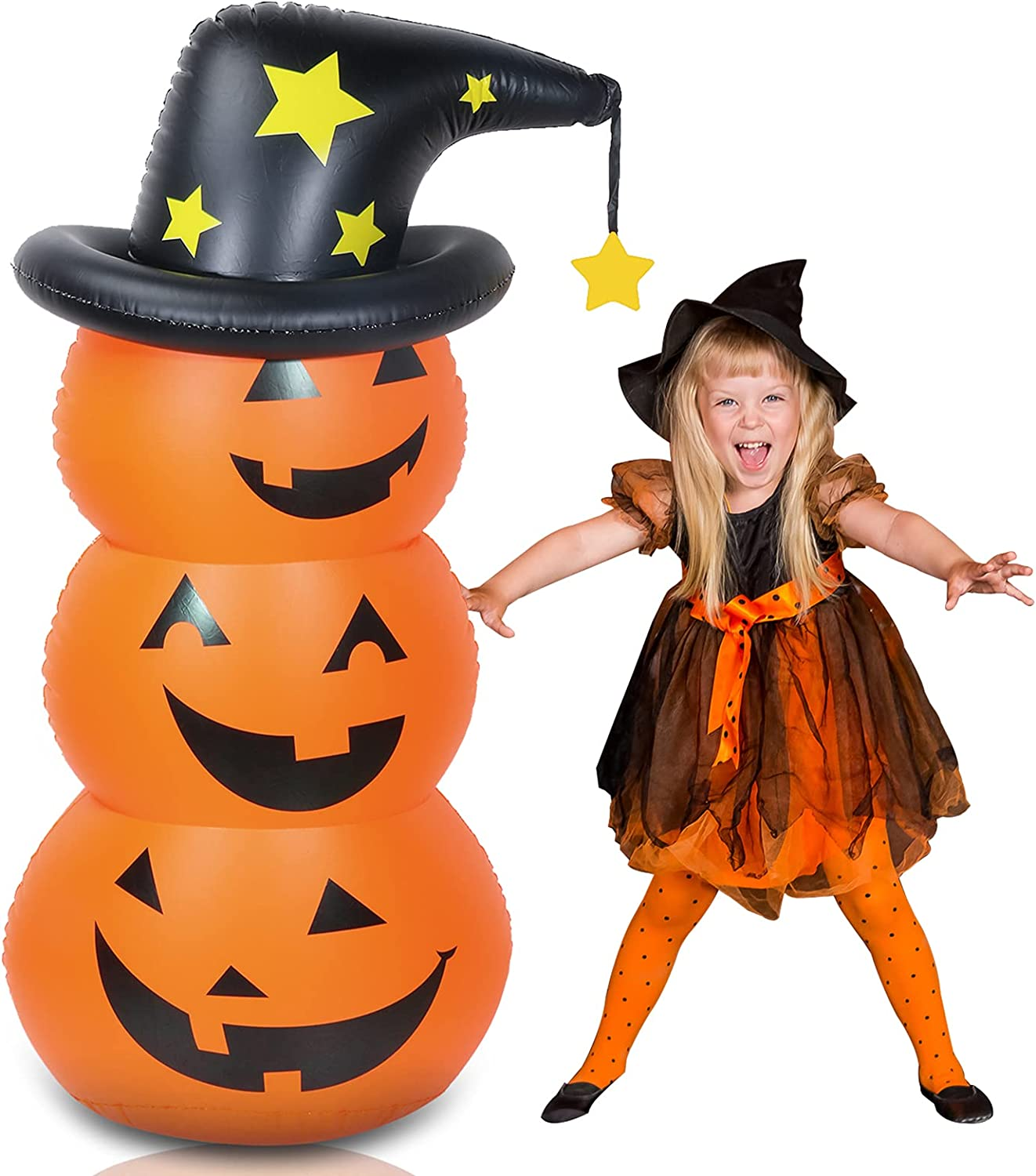 Halloween Decorations Inflatable Pumpkin Inflat Ft Los Angeles Mall 4.6 Sales for sale Tumbler
