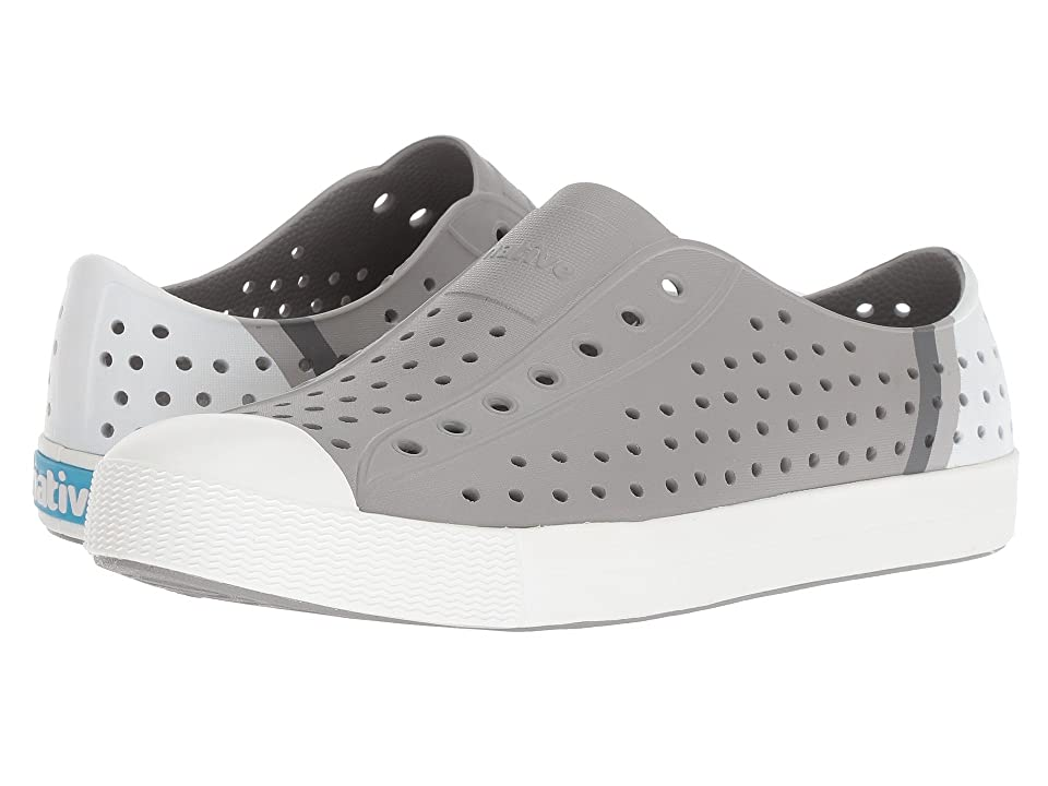 Native Kids Shoes Jefferson Block (Little Kid/Big Kid) (Pigeon Grey/Shell White/Gradient Block) Kids Shoes