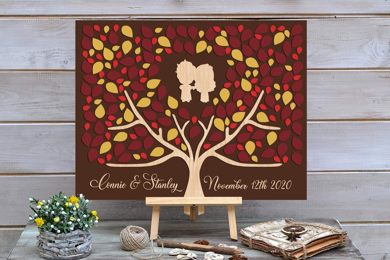 New product type PotteLove 3D Love Tree NEW Wedding Guest C Alternative - Book Custom