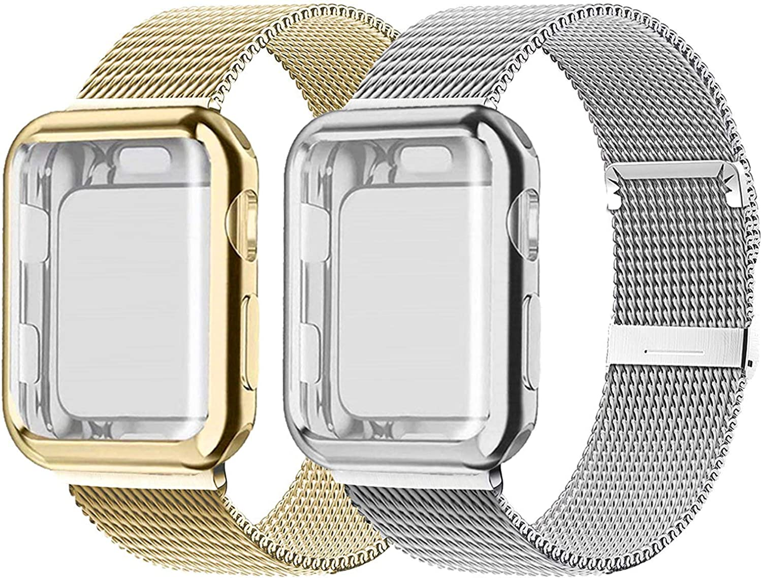 2 Pack Bands With Screen Protector Compatible Max 70% OFF National products for Wat Apple Case