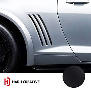 Haru Creative - Side Vent Stipe Insert Overlay Inlay Vinyl Decal Sticker Compatible with and Fits Chevy Camaro 2010 2011 2012 2013 2014 2015 - Matte Black