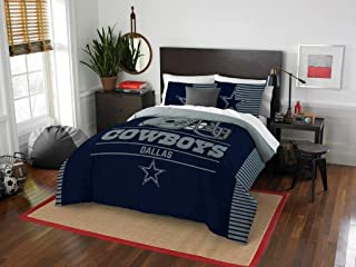 Dallas Cowboys - 3 Piece FULL / QUEEN SIZE Printed Comforter & Shams - Entire Set Includes: 1 Full / Queen Comforter (86 x 86) &