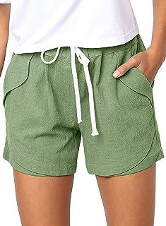 : lin Shorts et bermudas Femme : Vêtements