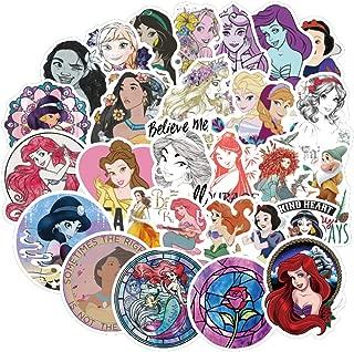 100pcs Pack Cartoon Laptop Stickers, Vinyl Computer Waterproof Water Bottles Skateboard Luggage Decal Graffiti Patches Decal (Princess)