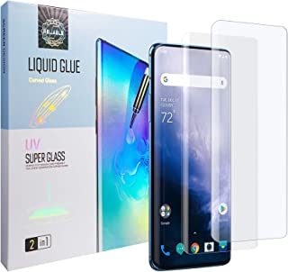 Easylifes Screen Protector for Oneplus 7 Pro / 7t Pro Tempered Glass, Full 3D Curved Edge Film for Oneplus 7t Pro [with Gl...