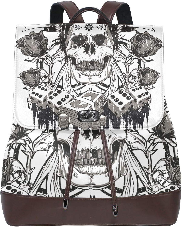 DEZIRO Skelett-Rucksäcke Reisetasche aus Leder B07H959668  Verbraucher zuerst