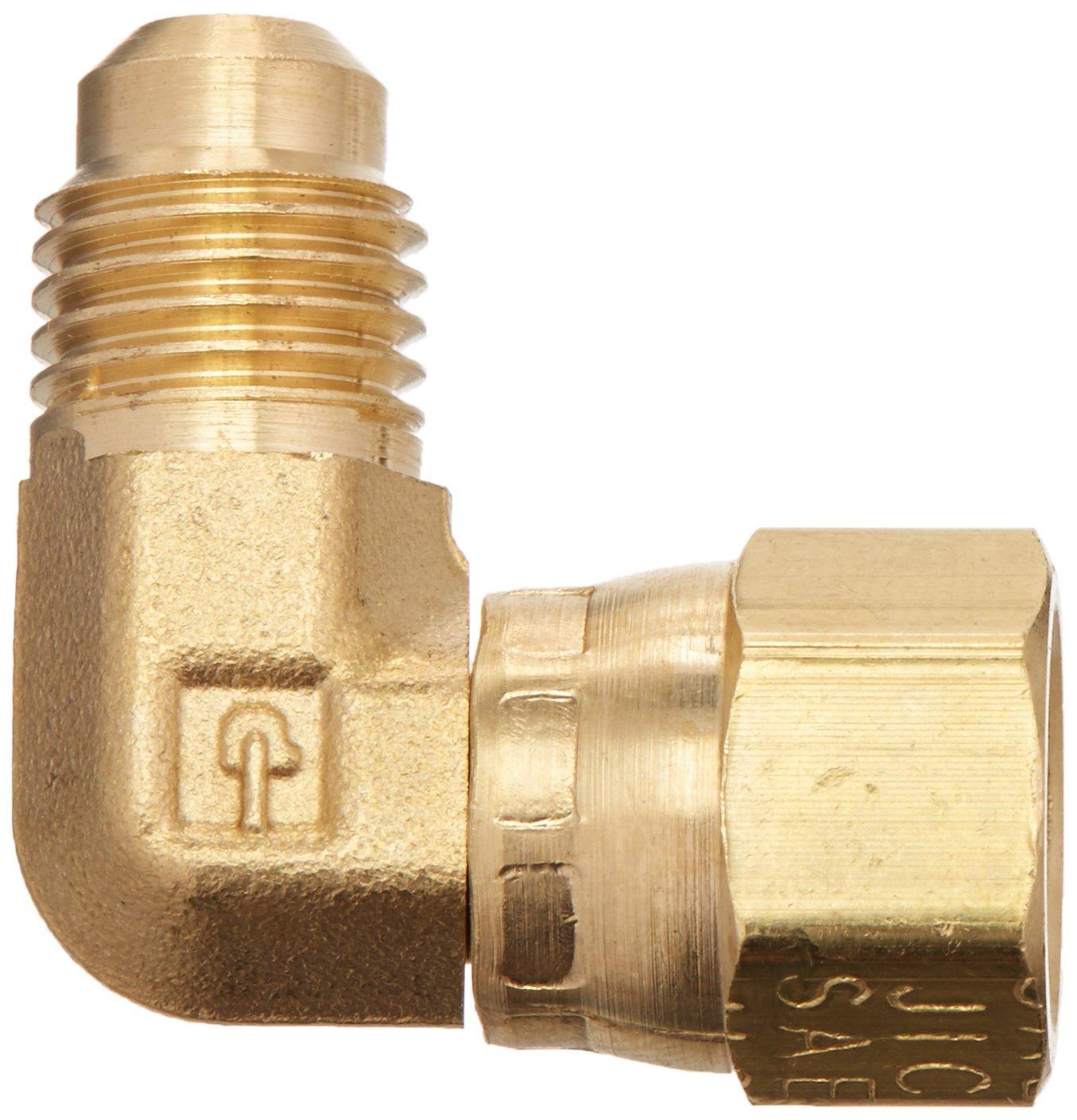 45 deg.,Brass,Flare,PK5 PARKER 166FSV-8-8 Swivel Elbow