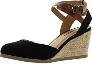 Best black closed toe wedge sandals Reviews