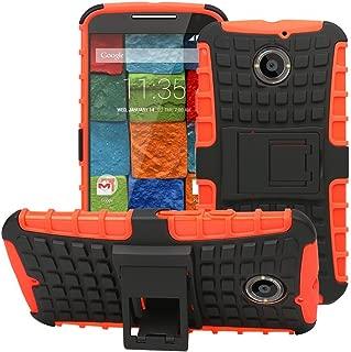 [SCIMIN] Moto X 2nd Gen Case, Heavy Duty Dual Layer Protection/Shockproof/Drop Resistance Hybrid Rugged Cover Case for Motorola Moto X 2nd Gen (Orange)