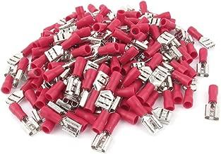 IIVVERR 150 Pcs Insulated Female Wiring Spade Crimp Connector Terminals Red FDD1-250 (150 Unidades Aisladas Hembra Cableado Espada Crimpado Conector Terminales Rojo FDD1-250