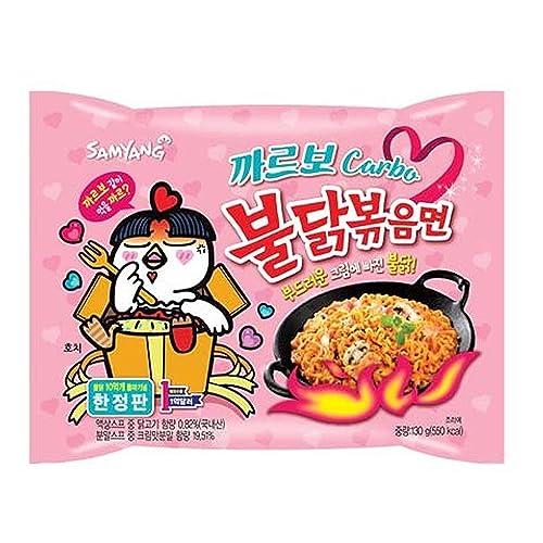 Samyang Ramen Best Korean Noodles (Carbo Spicy Chicken, 5 Pack)