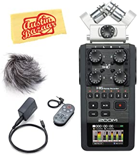 Zoom H6 Handy Recorder Bundle with Zoom APH-6 Accessory Pack and Austin Bazaar Polishing Cloth