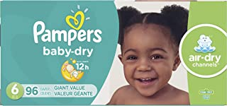 Diapers Size 6, 96 Count - Pampers Baby Dry Disposable Baby Diapers, Giant Pack (Packaging May Vary)