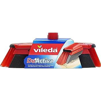 VILEDA 317-0340 DuActiva Escoba, Negro/ Gris/ Rojo, Estándar